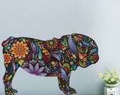 English Bulldog Dog Decal Wall Sticker