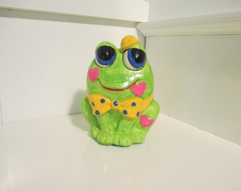 Vintage 1970's Made in Japan Frog Piggy Bank