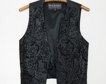 swirly leather vest - M