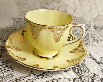 Royal Albert Yellow and Gold Cup and Saucer