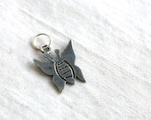 Butterfly Pendant Charm Sterling Silver SALE Vintage Mexican Jewelry Moth Insect Primitive Mexico