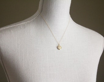 Small Gold Locket Necklace