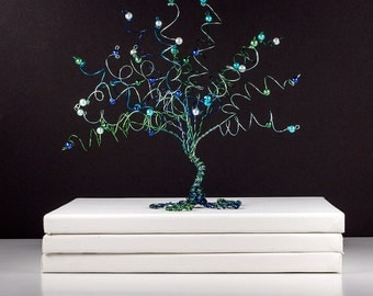 Water Lilies Wire Tree Sculpture Monet Painting Inspired Wire Art