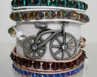 I Heart my Bike 5 wrap bracelet