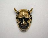 Hannya brass pendant noh mask