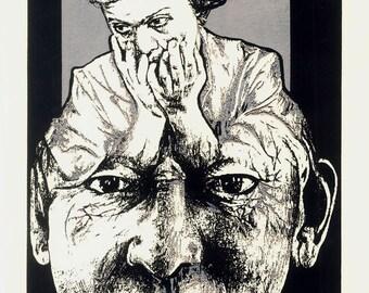 1994 Original Screenprint by Beatriz Bocage for Club del Grabado de Montevideo,  Serigraphy Black and White 1990s Art