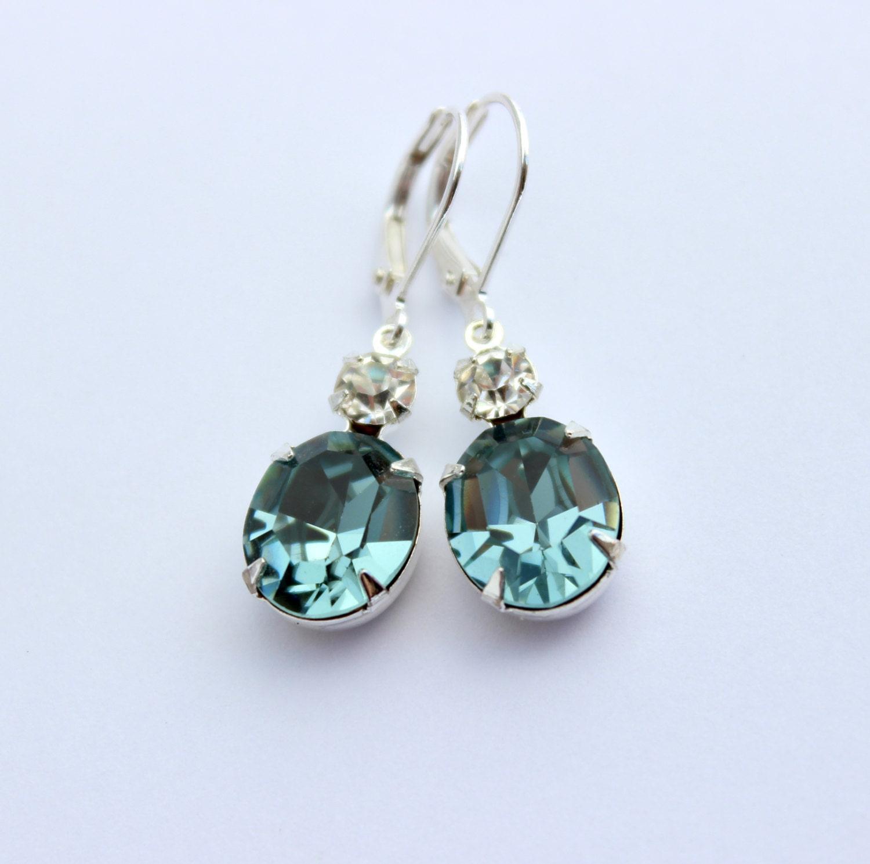 Swarovski Indian Sapphire earrings Swarovski earrings blue