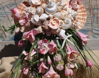 Cascading Seashell Bouquet / Ocean Bouquet / Beach Bouquet / Tropical Bouquet / Destination Bouquet/ Summer Bouquet /  Made to Order