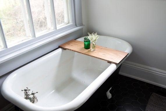 plateau de ch ne baignoire en bois salle de bain baignoire. Black Bedroom Furniture Sets. Home Design Ideas