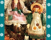 Instant Download PDF Vintage Eighties Holly Hock Dolls Sewing Pattern