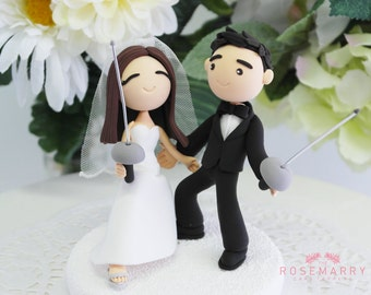 Custom Cake Topper- Fencing Players