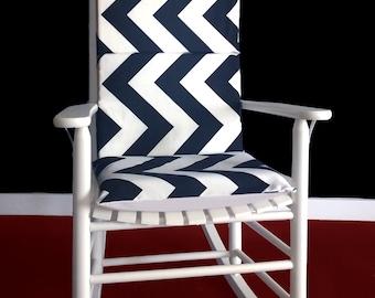Black White Chevron Zig Zag Rocking Chair Covers