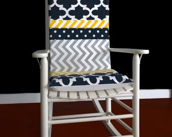 Rocking Chair Cushion Grey Ikat By Rockincushions On Etsy