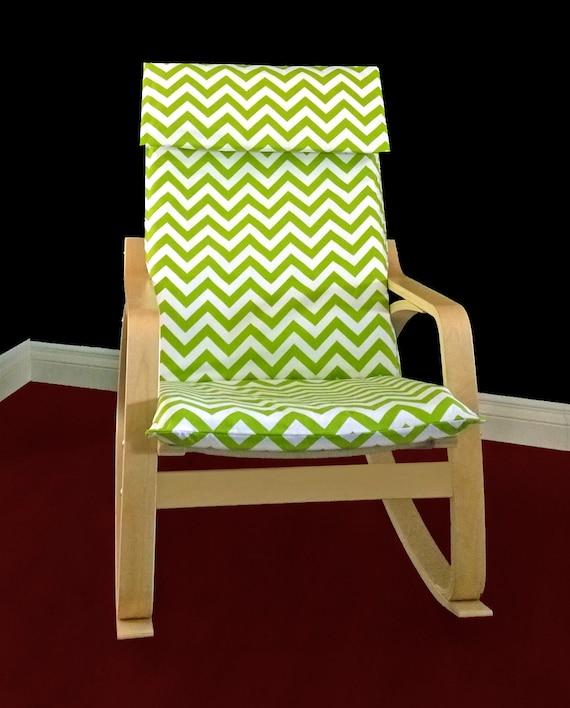 ikea po ng polster schutzh lle gr n chevron von rockincushions. Black Bedroom Furniture Sets. Home Design Ideas