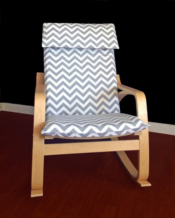 Ikea Algot Wall Upright Shelves ~ IKEA POÄNG Cushion Slipcover Grey Chevron Ready by RockinCushions