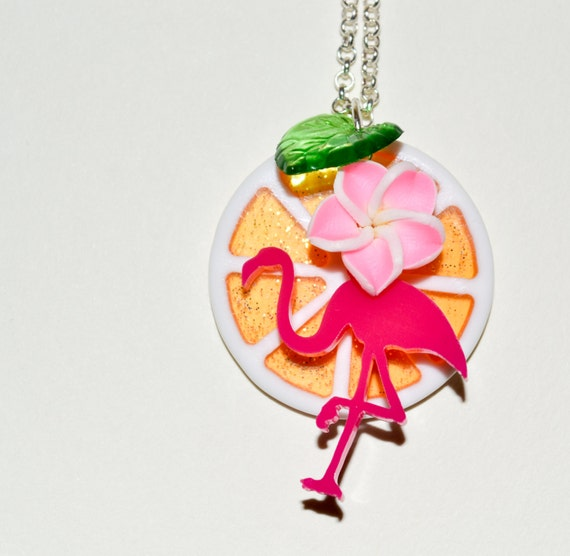Tropical Flamingo Necklace