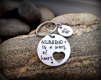 Nurse graduation gifts - Nurse Key Chains - personalized nurse gifts