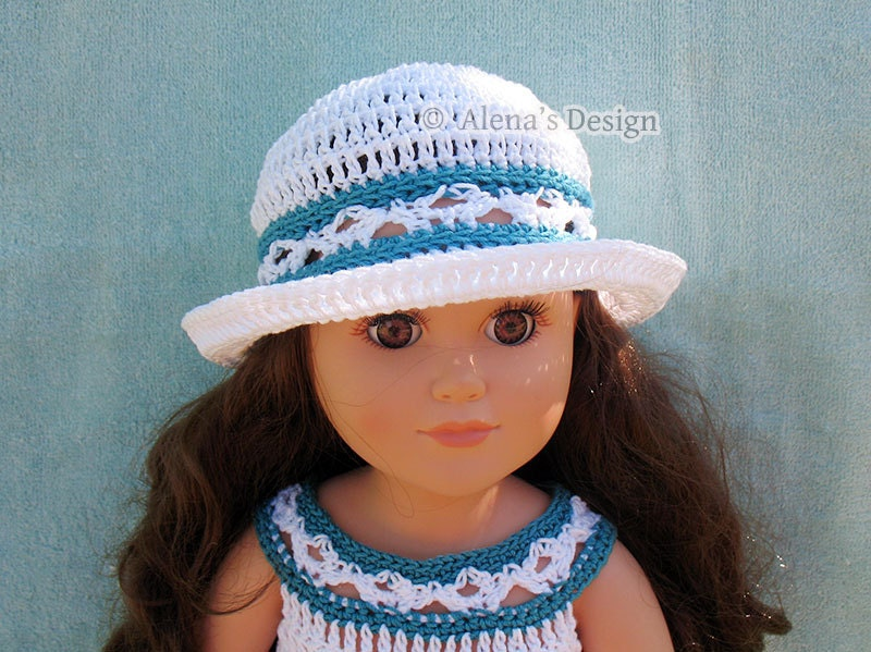 Air Freshener Crochet Dolls Pattern : Crochet Pattern 134 Crochet Hat Pattern for 18 inch Doll