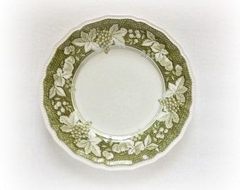 Dinner Plates Kensington Staffordshire Ironstone Somerset Green Vintage Dinnerware Dishes