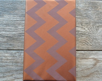 Metallic Copper Chevron Wrapping Paper, 2 Feet x 10 Feet