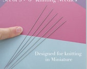"Miniature Knitting Needles thin and tiny 6"" long, 0.70mm thickness"