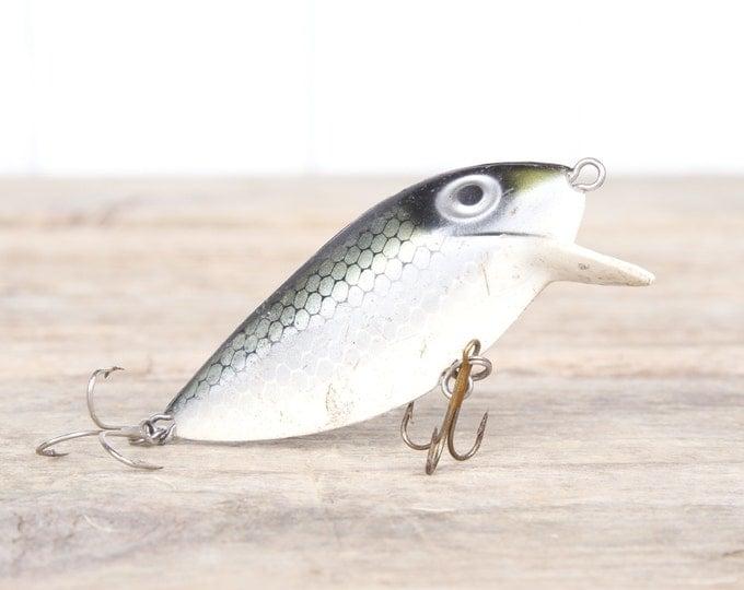 Fishing Lure / Green Thin Fin Fishing Lure / Fishing Decor / Vintage Fishing Lure / Plastic Lure / Old Fishing Lure / Dad Fishing Lure Gift