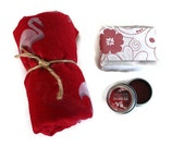 Valentine Gift For Her / Beach Gift Set / Luxury Shea Soap, Lip and Cheek Stain, Large Wrap / Traveling Graduate Gift Idea