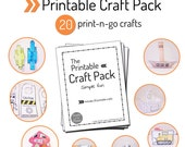 Printable Crafts Pack - Toys, Robots, Dinosaurs, and more!