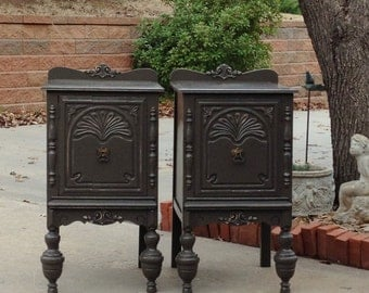 French Country Nightstands YOU ORDER We Find. Antique Nightstands, Refinish, Paint For You CUSTOM Shabby Chic Farmhouse
