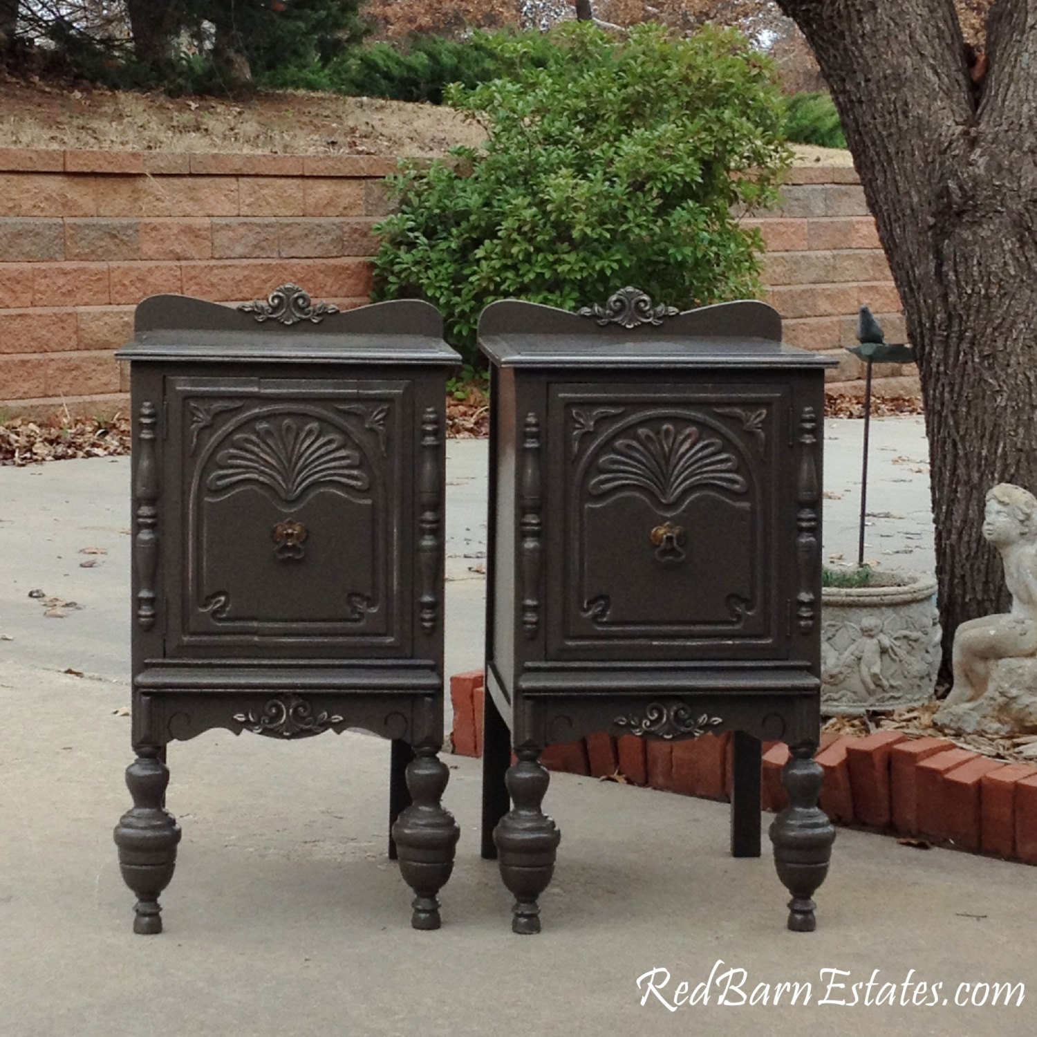 Antique Night Stands Painted Antique Nightstands You Order We Find Restore Adorn