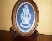 Mother Mary/Virgin Mary/Wood Frame/Lace/Cut Out