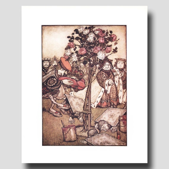 Alice In Wonderland Home Decor Vintage King And Queen Art Arthur