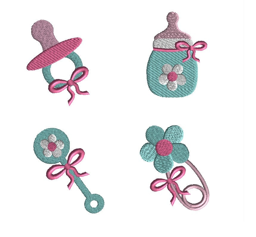 Mini baby girl machine embroidery designs instant download