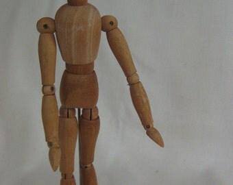 Vintage Articulated Wood Artist Model Taiwan