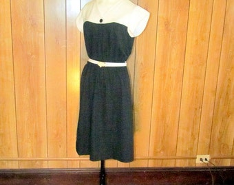COLOR BLOCK Black & White Day Dress