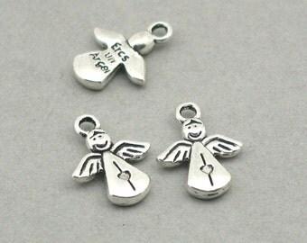 Angel Charms Fairy Antique Silver 10pcs zinc alloy beads 12X16mm CM0890S