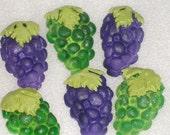 Gumpaste Grape Cupcake Toppers for Weddings, Showers, Anniversaries