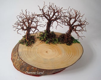 Into The Old Grove ~~ Decorative Autumn Themed Sculpture ~ Tea Light Holder / Plate (Tree Of Life Candleholder)