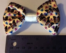 Papillon Dog and Butterfly Satin Hair Bow