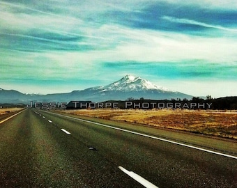 Mount Shasta on canvas