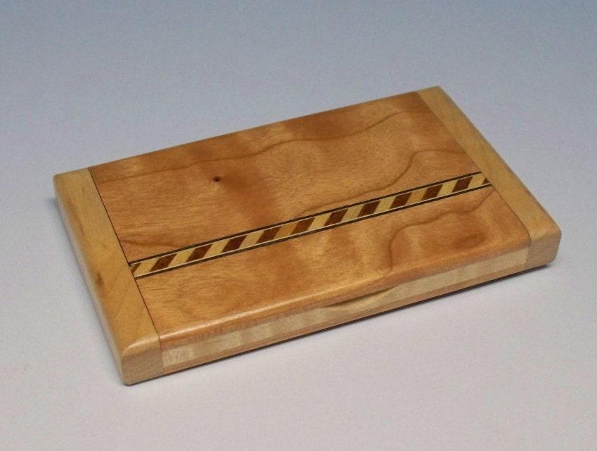 Cherry business card holder wooden business card holder for Wooden business card case