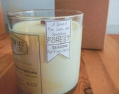 """PINE, CEDAR, and SANDALWOOD : 8 oz. Aromatherapy """"Forest"""" Candle"""