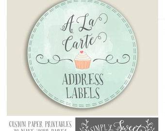 Add On to your order. A la Carte. ADDRESS LABELS to match any design in the SimplySweetParties shop