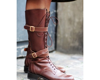 7.5/38.5 Gorgeous Italian leather ridding boots