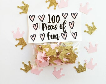 Princess Confetti, princess confetti, princess party, fairy party, crown confetti, pink party, ballet party, girly party, queen party, pink