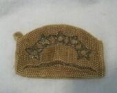 Vintage Le Jule Beaded Purse Art Deco Star Design Clutch Champagne Gold Formal Handbag