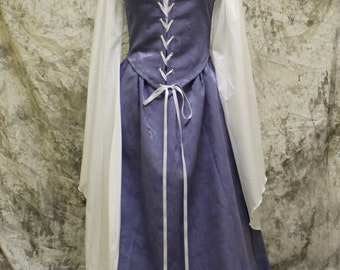 Lavender Renaissance Costume-Halloween Costume-Medieval Dress-LARP-Ren Fair-Steampunk-SCA-Adult Costume-Medieval Clothing-Fantasy-Item #147