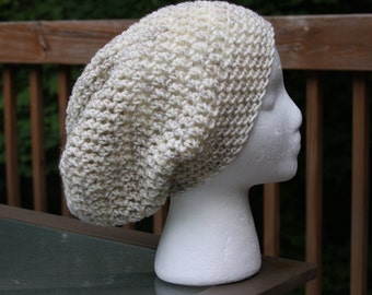 The Sparrow Slouchy Beanie in Wheat - Ready to Ship