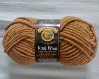 Lion Brand - KOOL WOOL - Camel - 50 g - 60 yards / 54 metres - Discontinued - LBKW125