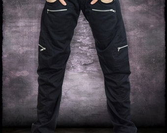 Black Legion Pants + Gunmetal Hardware by Loose Lemur Clothing